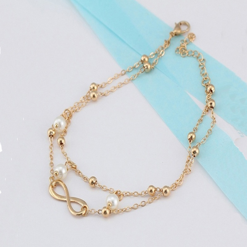 LZHLQ Geometric Metal Letter Anklet Bracelet Maxi Multilayer Foot - Fashion Jewelry - Photo 1