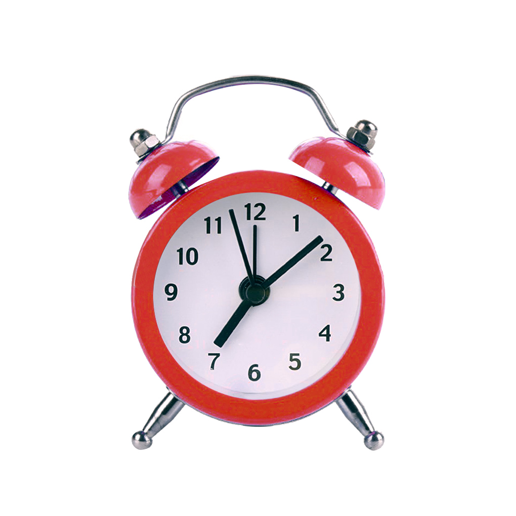 Home & Garden Alarm Clocks New Mini Round Alarm Clock Desktop Table Bedside Clocks Kids Adults Travel Clock Decor .