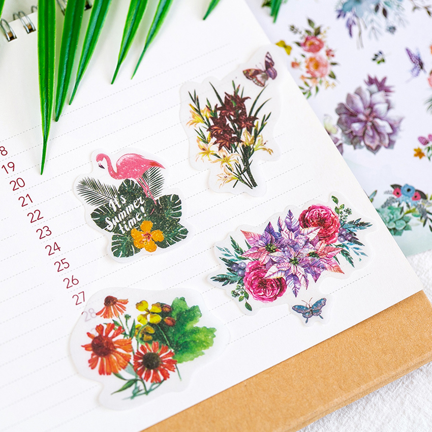 Купить с кэшбэком 60pcs/pack vintage memory series stationery decorative sticker children DIY diary scrapbook label gifts sticky