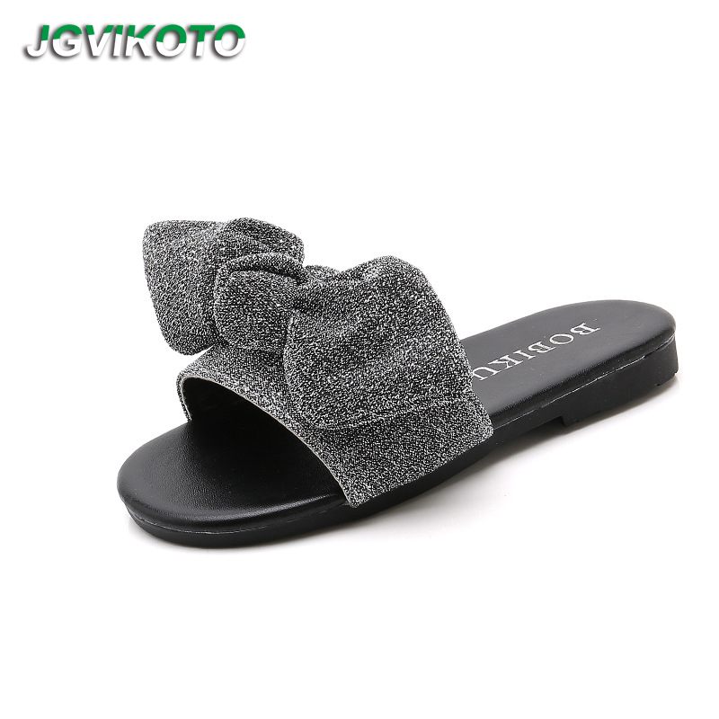 e7f8fbd21a2d JGVIKOTO Big Girl Sandals Slippers Glitter Bow knot Sweet Slides For Kids  Teenagers Girls Beach Slippers Soft Anti slip 26 39-in Sandals from Mother    Kids ...