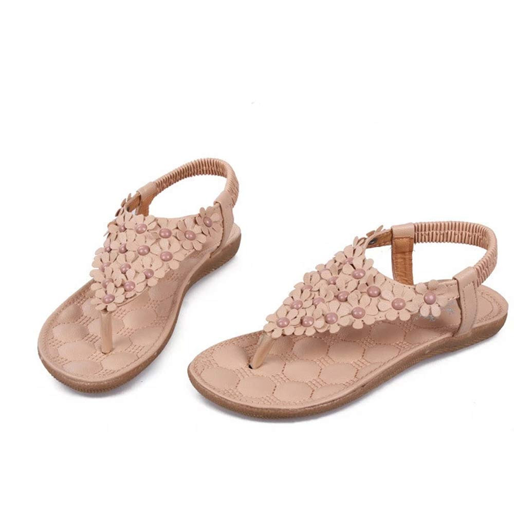 Summer Bohemia Sweet Beaded Sandals Clip Toe Sandals Beach Shoes  tenis feminino #A40