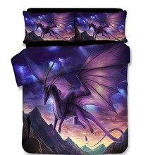 3D dinosaur bedding set Duvet Covers Pillowcases dragon comforter sets Jurassic World bedclothes bed linen Lost
