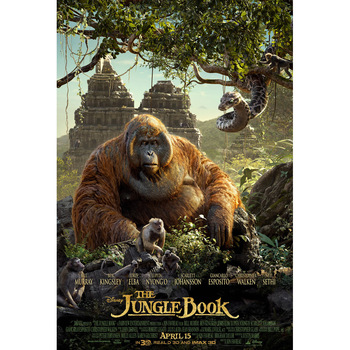 J0488- The Jungle Book Classic Hot Movie Pop 14x21 24x36 Inches Silk Art Poster Top Fabric Print Home Wall Decor