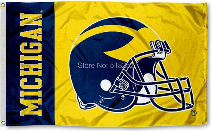 Michigan State Bandeira Capacete 3x5 FT 150X90 CM NCAA Bandeira 100D Poliéster bandeira Feita Sob Encomenda 6038 grommets, frete grátis