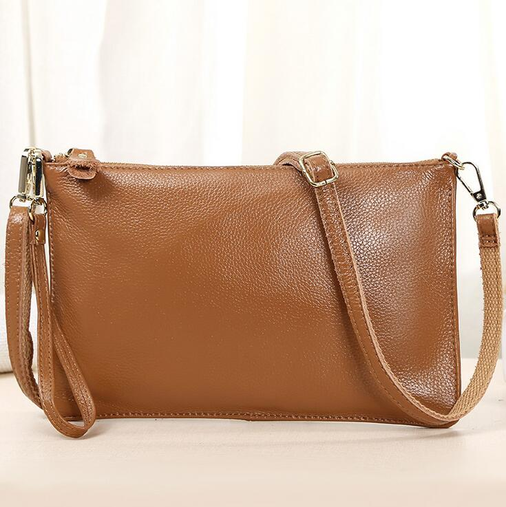 ФОТО Genuine Leather women cross-body bag cowhide single shoulder bags women thick small flap bag