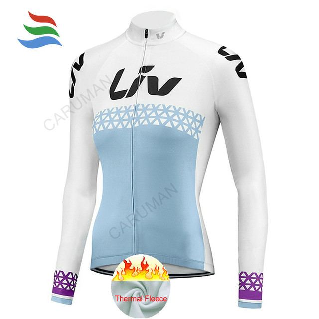 Cheap Liv 2018 Cycling Jersey Women Winter Thermal Fleece Bike Bicycle Long  Sleeves MTB Clothing Lady 0664a3a98
