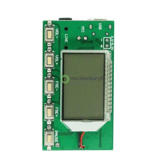 DSP PLL 87 108 MHz LCD Display FM Radio Wireless Microphone Stereo Transmitter / Receiver Module Bestseller Brand New