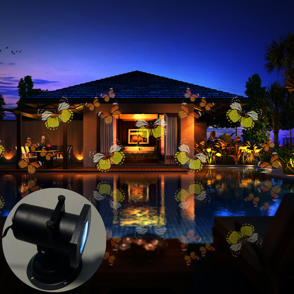 12 switchable themes landscape projector led spotlight wall light for outdoor and indoor christmas light butterfly projector