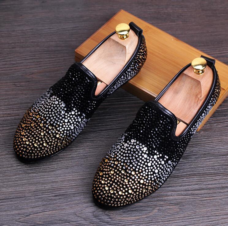 Preto Condução Loafers red Veludo Partido Moda Set Trado Chinelos Europa gold Velvet Bordado Sapatos Black Casamento De Nova Mocassins silver Estilo Homens qZTRwRX