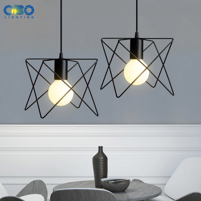 Black Iron Frame Vintage Pendant Lights Bar/Clothing store/Coffee ...