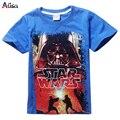 Новый 2016 мальчики звездные войны одежда тенниски девушки дети nova star wars лучших футболку детей летом майка star wars meninos roupas