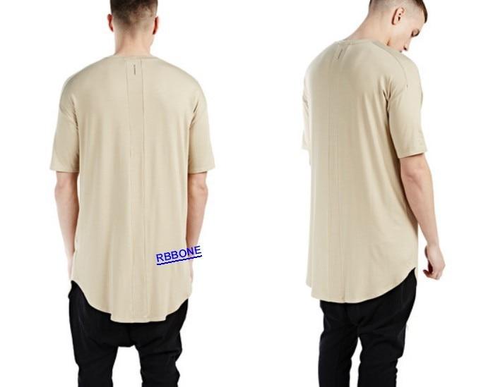 Long Back Zipper Streetwear Swag Man Hiphop t-shirt t-shirt extra oversize  Tee Men t shirt tyga cool oversized hip hop extended e5d02b8d1ef