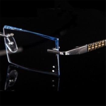 91cfc78d0a Gafas sin montura gafas prescripción Marco de titanio gafas ópticas para  hombre miopía hiperopía prescripción progresiva 88