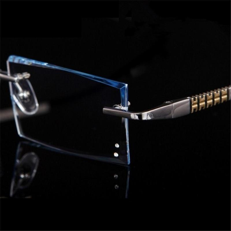 Rimless Glasses Prescription Glasses Titanium frame Men 39 s Optical glasses Myopia Hyperopia Progressive prescription 88 in Men 39 s Prescription Glasses from Apparel Accessories