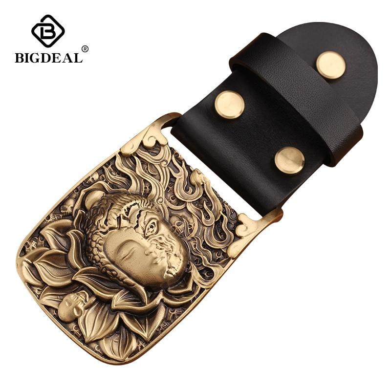 Brass Belt Buckle Men Belt Diy Accessories Vintage Retro Chinese Style Belt Buckles TOP Quality Mens Belts Luxury Wholesale