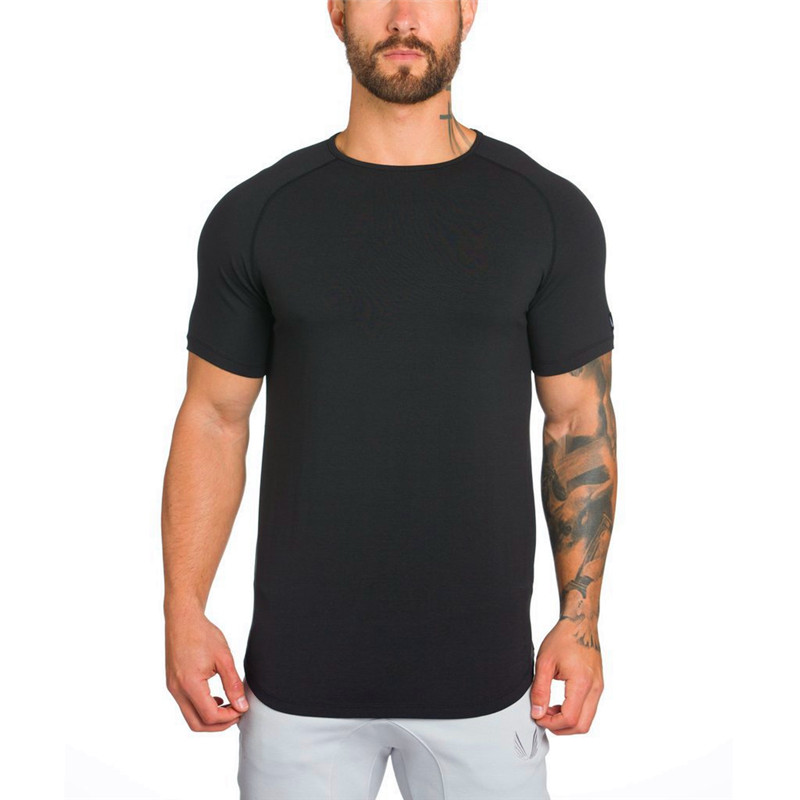 2018 New Products New Fashion Multicolor T-shirt Cotton Fitness Shirt T-shirt Men's Casual Short-sleeved Shirt M-XXL