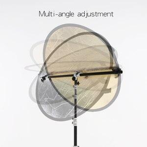 Image 5 - Reflector Arm Flash Light Support Holder Bracket Swivel Head  with Telescopic Boom Arm for Speedlite Mini Flash Strobe