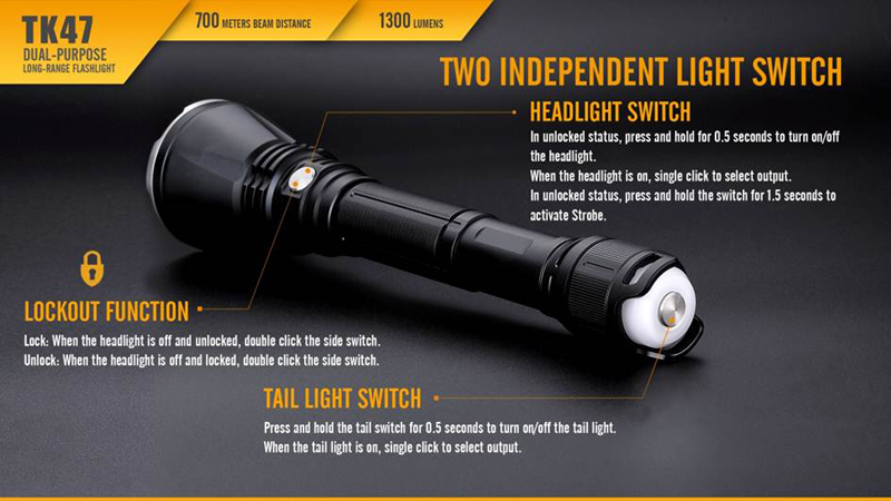 Fenix TK47 700 Meters Beam Distance Long Range Flashlight (14)