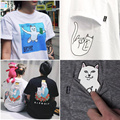 Ripndip T Shirt Men Women Couple Summer Style Skateboard T-shirts Rip n Dip Pocket Cat Tee Short Sleeve Ripndip T Shirt