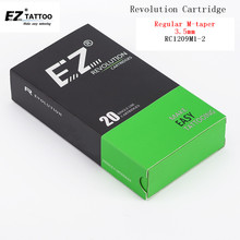 RC1209M1-2 EZ Revolution Cartridge  Tattoo Needles Curved Magnum 3.5 mm Medium Taper Compatible with cartridge grips & machine