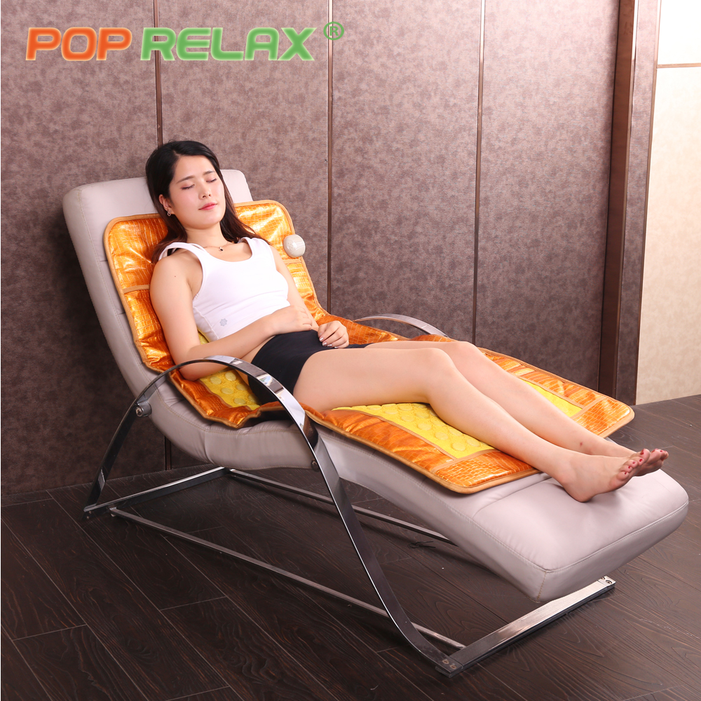 POP RELAX Korean heating therapy mat AB two sides thermal germanium tourmaline jade maifan physiotherapy health stone mattress pop relax negative ion magnetic therapy tourmaline mat pr c06a 55x120cm ce