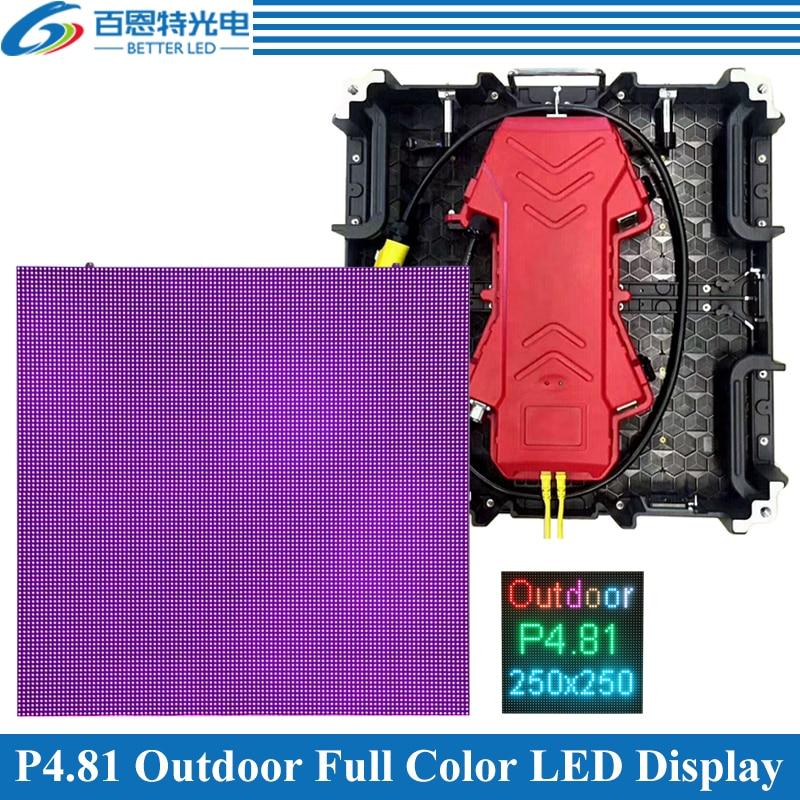 8pcs/lot P4.81 Outdoor 1/13 Scan 500*500mm 104*104 Pixels Die-cast Aluminum Cabinet Rental Full Color Video LED Display Screen