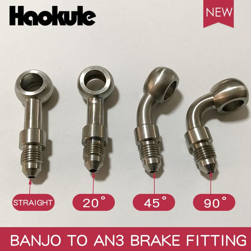2x Bulkhead fitting /& chassis tab for neat brake hose setup AN3 Radius seat tab