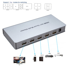HDMI 4×1 Quad Multi-viewer HDMI Switcher 4 in 1 out  1080P HDMI Quad Screen Real Time Multiviewer support Five models switching