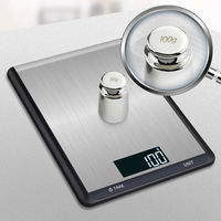 5kg 10kg / 1g Electronic Kitchen Scale Digital Food Scales Slim Multifunction Weighing Scale LCD High Precision Measuring Tools