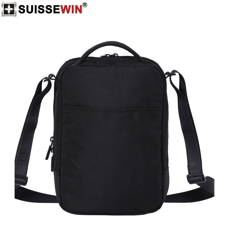 Image 4 - 2019 Swiss Fashion Shoulder Bag Men Mini Handbag Black Crossbody For Ipad Casual Oxford Messenger Satchel Music Bag Women