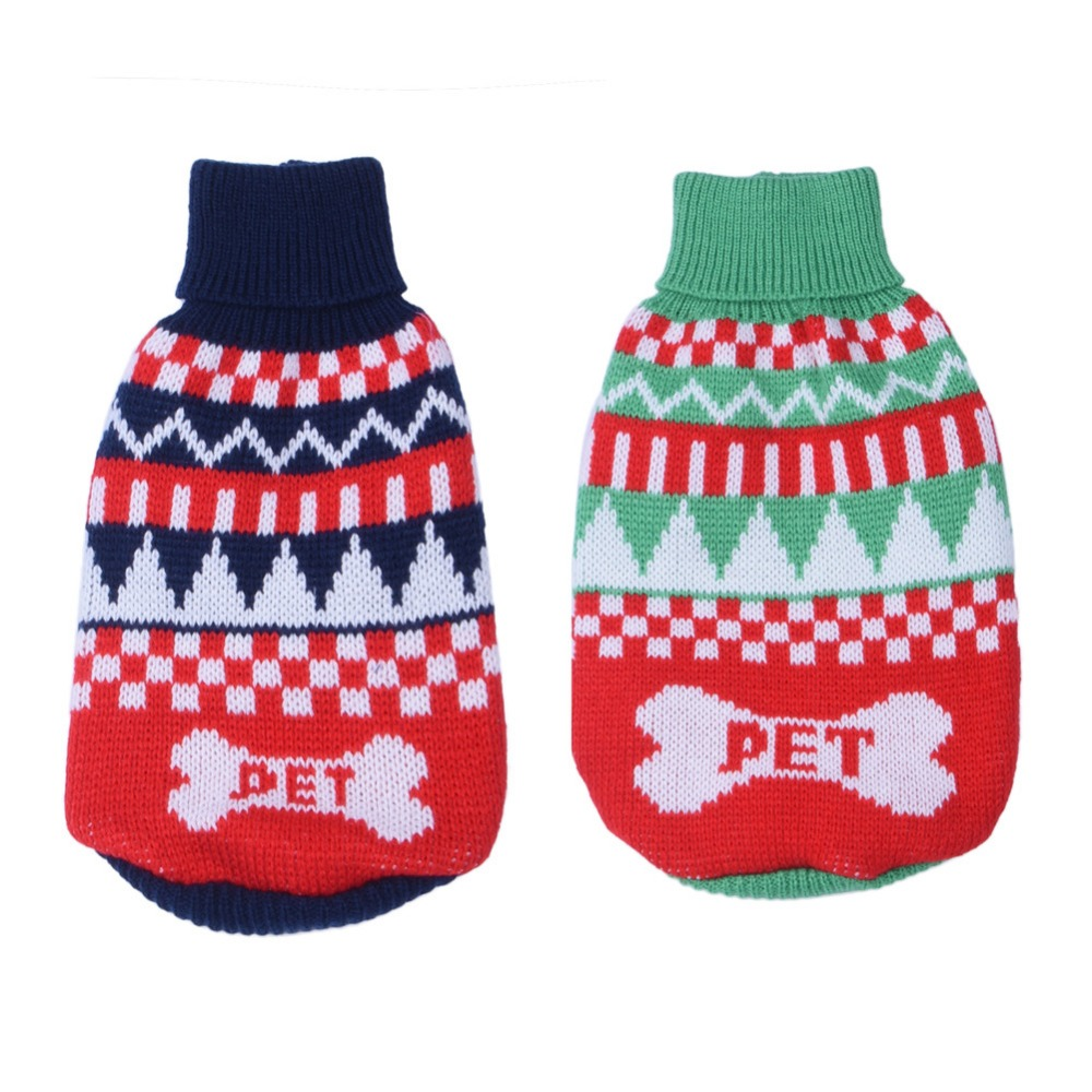 Pet Dog Cat Warm Clothes Dog Christmas Sweaters Christmas Fashion ...