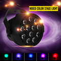 Dj Disco Projector LED Flat Portable Mini AC 90 - 240V 12W Stage Par Lights 8CH 12 LEDs RGB Color Mixing Stage Lighting Effect