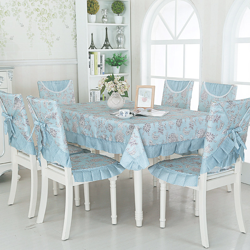 Elegant Table Cloth 9 pcs/set Lace Tablecloth For Wedding Decor Pastoral Style Rectangle Dining Room Chair Table Cover MantelesElegant Table Cloth 9 pcs/set Lace Tablecloth For Wedding Decor Pastoral Style Rectangle Dining Room Chair Table Cover Manteles