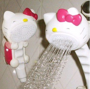 Shower Head Sprinkler showeHello Kitty  caddy Kitty Faucet super cute lovely Bathroom Appliance  hot sale fashionable