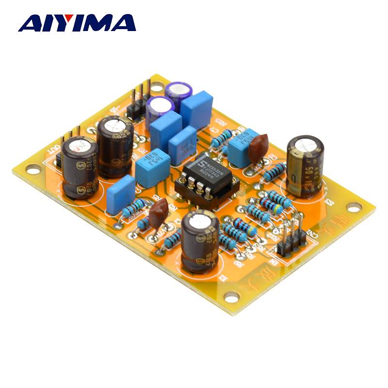 цена Aiyima Hifi Stereo MM Phono RIAA Amplifier NE5532 DIY Preamplifier Audio Board