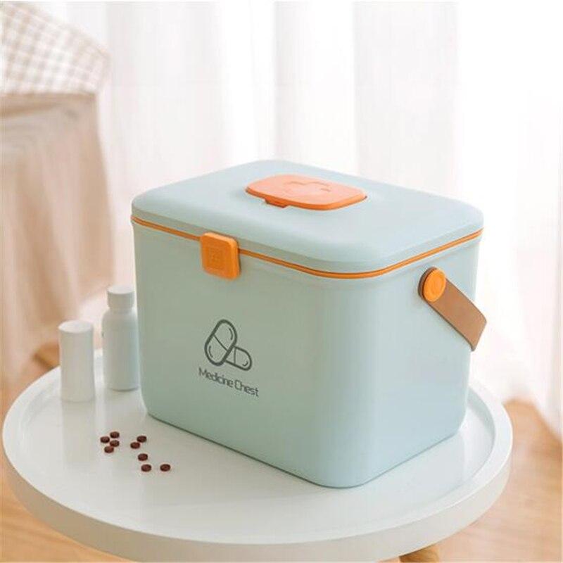 Boîte en plastique deux couches boîte de rangement outil organisateur boîte à conteneurs avec poignée bijoux rangement organiser pour pique-nique voyage