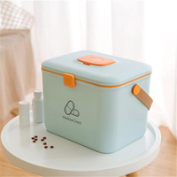 Plastic Box two Layers Storage Box Tool Organizer Container Case with Handle Jewelry Storage Organize For Picnic travel