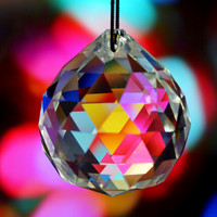 KSOL 10pcs Crystal Glass Lamp Chandelier Prisms Party Decor Hanging Drop Pendant 40mm