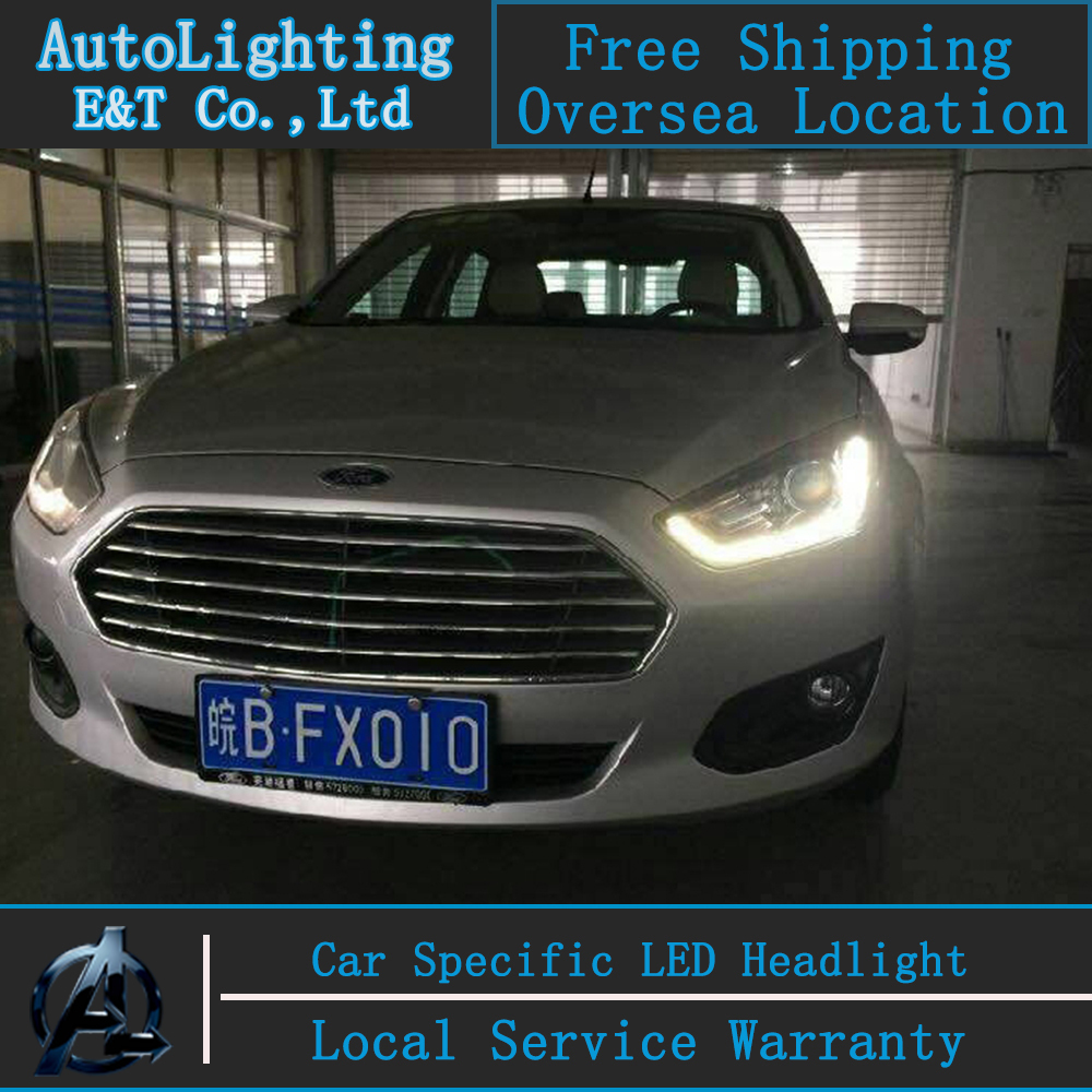 Car Styling Led Lamp For Ford Fusion Headlight Embly 2017 Drl Turn Signal H7 With Hid Kit 2pcs
