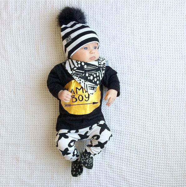 2pcs Newborn Baby Boys Clothes Set Gold Letter MAMAS BOY Outfit T-shirt Pants Kids Autumn Long Sleeve Tops Baby Boy Clothes Set 7