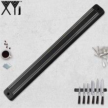 XYj Магнитная подставка для ножей настенное крепление для Дамасского ножа из нержавеющей стали черный металл и АБС-пластик нож блок Магнитный нож держатель Блок