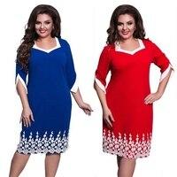 Новое летнее платье Модные женские полурукава с круглым вырезом тонкие элегантные кружевные вечерние платья плюс размер по колено платье