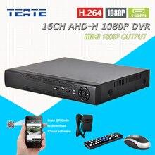 TEATE AHD 1080P HD 16ch surveillance DVR NVR 16 channel AHD-H HDMI Standalone safety 3G WIFI video recorder T-G16D10PB08