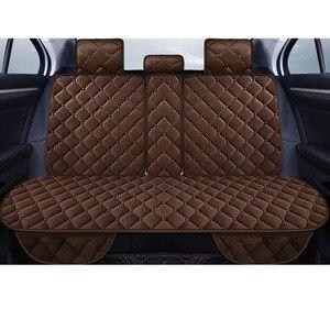 Image 5 - Universele Pluche Auto Seat Cover Winter Warm Faux Fur Auto Voorzijde Achterzijde Rugleuning Zitkussen Pad Interieur Accessoires Protector