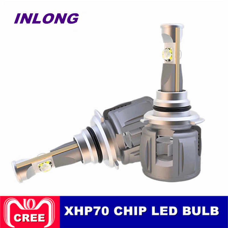 INLONG H7 Car LED Headlight Bulb H4 H11 H8 9005 9006 HB4 D4S D2S D1S Original XHP70 Chips 120W 15600LM Headlamp Fog Lights 6000K