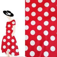 2018 Modo Caldo Rosso Bianco Polka Dot Talasite Panno di Cotone Elastico del Vestito Delle Ragazze Polka Dot Stampa Tessuto Patchwork tessili per la casa