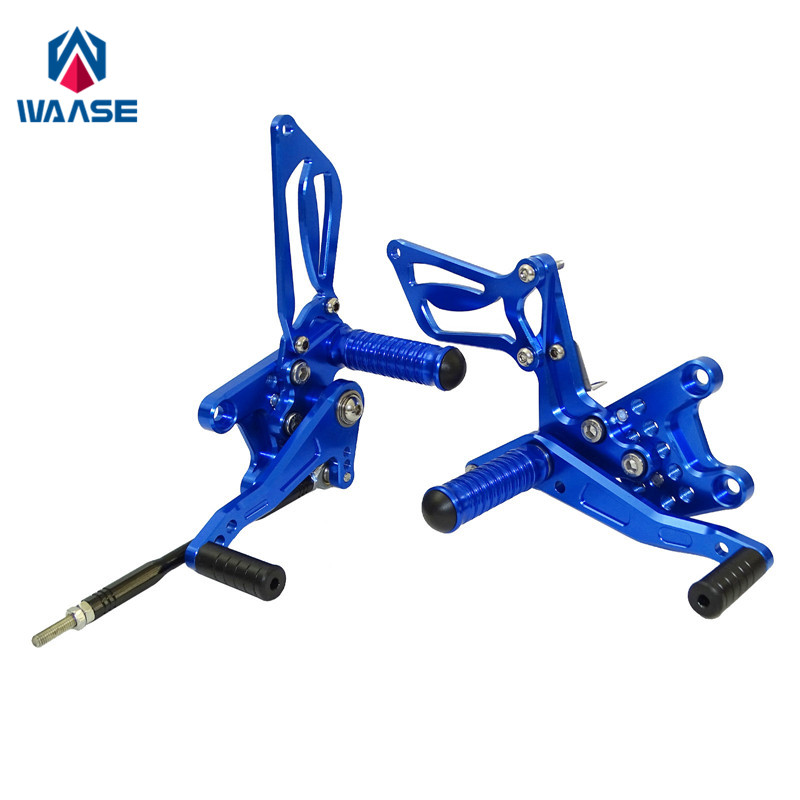 waase Motorcycle CNC Adjustable Rider Rear Sets Rearset Footrest Foot Pegs For Suzuki SV650 SV650A SV650S SV1000 SV1000S