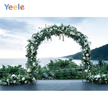 Yeele Wedding Ceremony Photocall Flower Arch Door Photography Backdrops Personalized Photographic Backgrounds For Photo Studio
