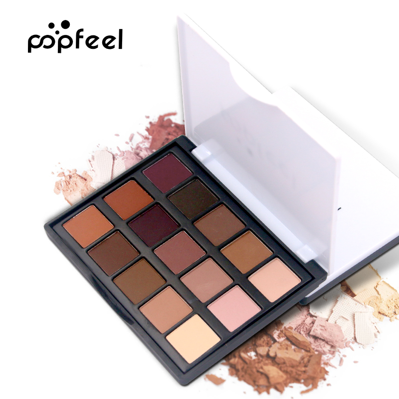 Popfeel Brand Matte Glitter Waterproof Lasting Eyeshadow Pallete Make Up Palette Eye Shadow Makeup Natural Pallete Maquiagem