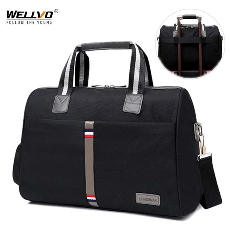 Leisure Foldable Portable Shoulder Bag Waterproof Travel Bag Men Women Travel Luggage Large Multifunction Fitness Tote XA164ZC